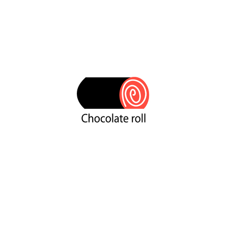 Vector icon of chocolate roll