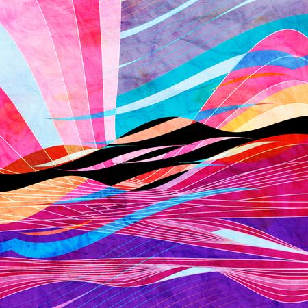 Grafische abstracte lichtgolven