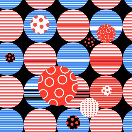 Abstract geometrisch patroon uit verschillende cirkels en strepen Stockfoto - 83158323