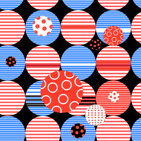 Abstract geometric pattern from different circles and stripes