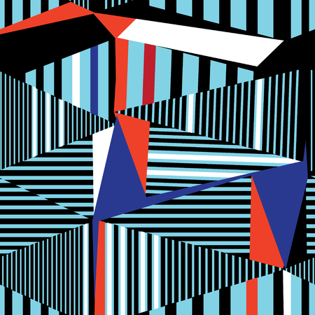 Abstract geometric pattern from different triangles and stripes