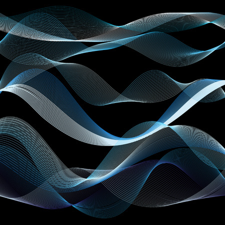 Light vector waves from lines on a dark background