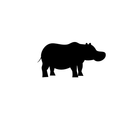 Icon bright hippo vector on white background
