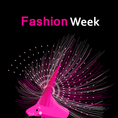 Bright fashion funny poster with a porcupine on a dark background