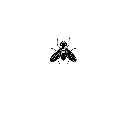 Graphics silhouette fly icon on white background