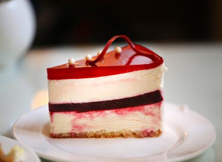 Photo of a delicious cheesecake Фото со стока