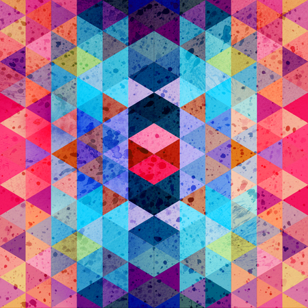 Geometric watercolor background with different polygons Banco de Imagens