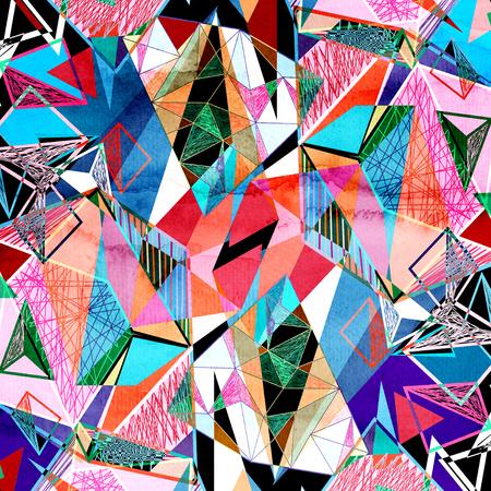 fond aquarelle géométrique avec différents polygones