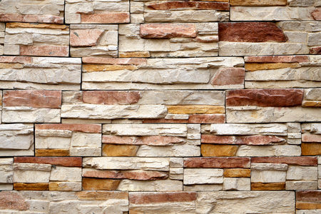 Photo background macro beautiful stone masonry walls