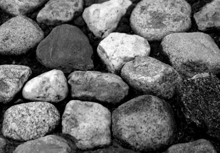 Photo background macro large stones on the ground