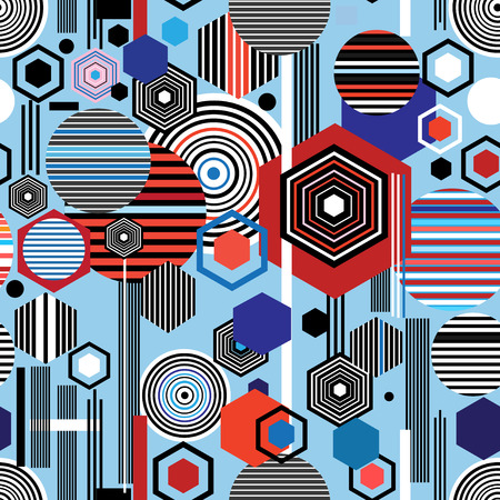 Bright colorful  abstract geometric pattern