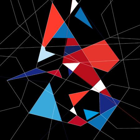 異なるポリゴンを持つ抽象グラフィックスの背景
