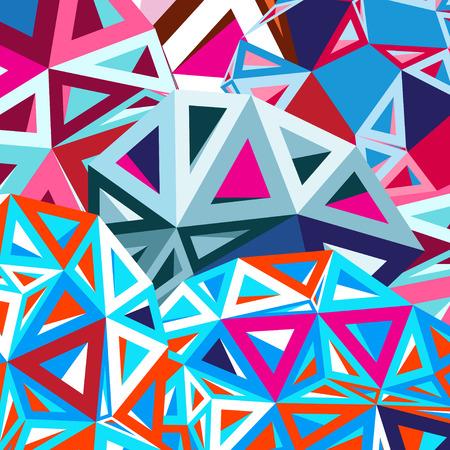 明るいカラフルな幾何学的抽象的な背景