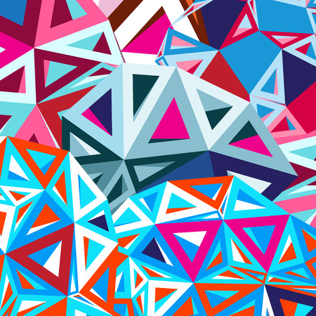 Bright colorful geometric abstract background Çizim