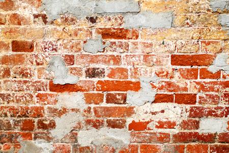 Photo of an old beautiful brick wall texture