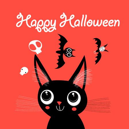 Funny Cat for Halloween Иллюстрация