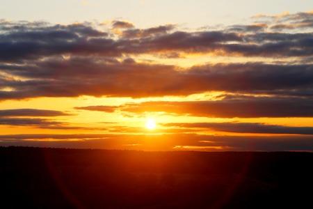 Beautiful bright sunset photo