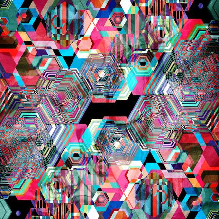 Seamless patrón gráfico brillante de diferentes diamantes Foto de archivo - 87394294