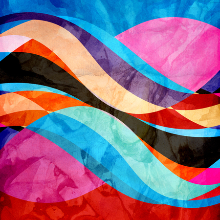 Abstract Watercolor abstract colorful background with fantastic elements. Background for design template.watercolor background