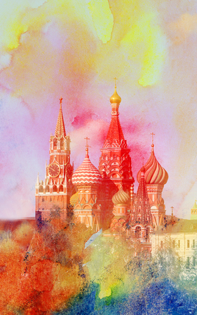 Photo of a miracle view of St. Basils Cathedral in Moscow