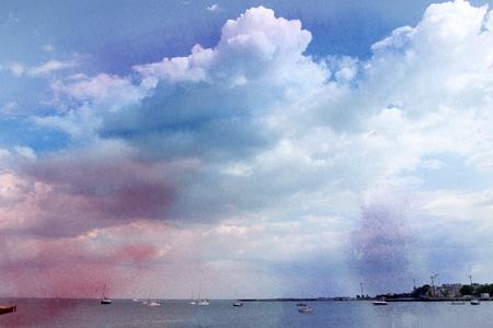 シルバー空の雲