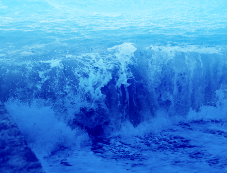 Photo background bright blue waves wonderful water effect