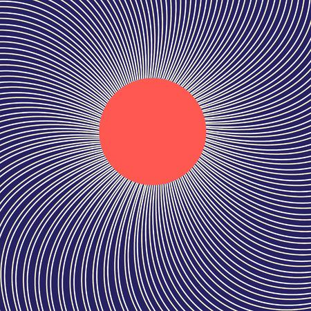 Imagen gráfica con el sol sobre un fondo luminoso lineal Foto de archivo - 89545242