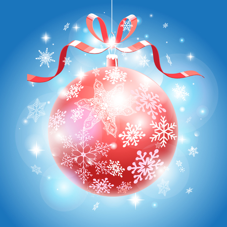 Beautiful vector illustration Christmas balls on background Illustration