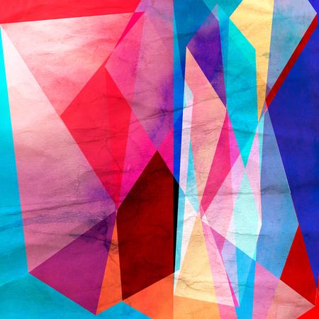 Abstracte aquarel achtergrond met een interessante verscheidenheid van geometrische elementen