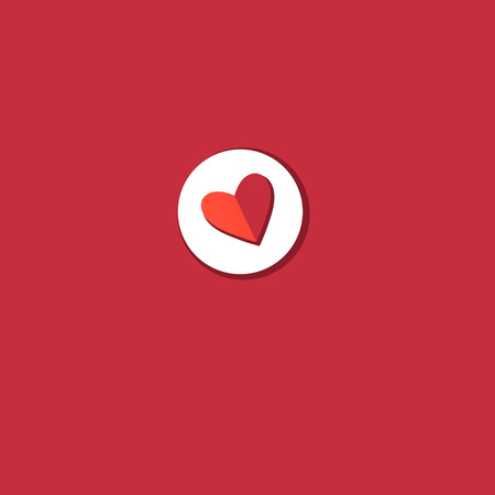 Vector red heart icon on bright background  イラスト・ベクター素材