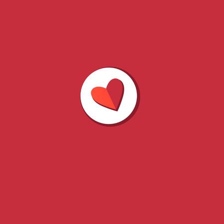 Vector rood hartpictogram op lichte achtergrond