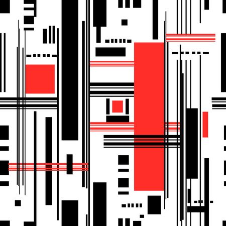 Abstract pattern of geometric stripes on a white illustration.