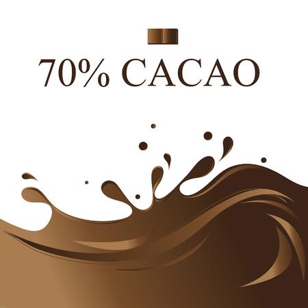 Grafische illustratie met chocoladevloeistof voor productreclame. Stockfoto - 92184327