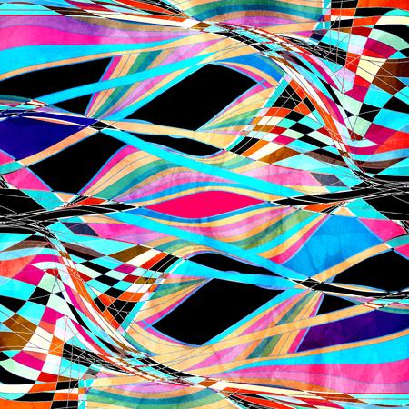 물결 모양 요소와 추상 수채화 색 배경 스톡 콘텐츠