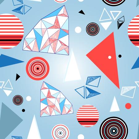 超明るい幾何学的パターン。