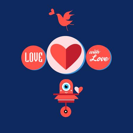 발렌타인 데이 어두운 배경에 마음과 인사말 카드.