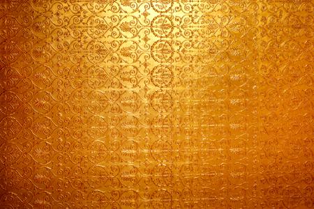 사진 밝은 황금 장식 벽 배경