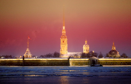 Photo landscape Peter and Paul Fortress in St. Petersburg