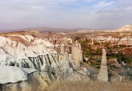 Photo views of the Cappadocia fortress Uchisar sunny afternoon