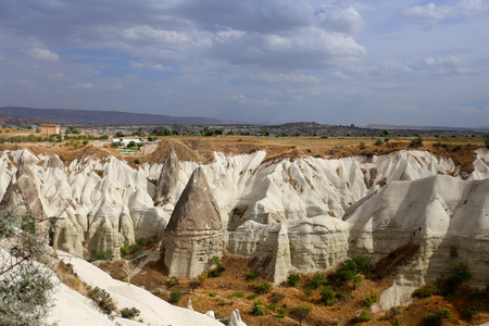 Photo views of the Cappadocia fortress Uchisar sunny afternoon