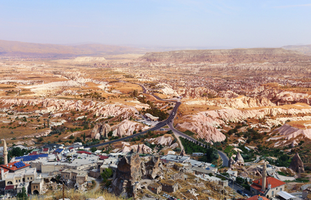 Photo views of Cappadocia from above on a sunny afternoon