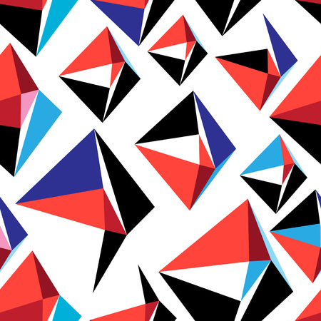 Vector abstract multicolored geometric pattern on a white background