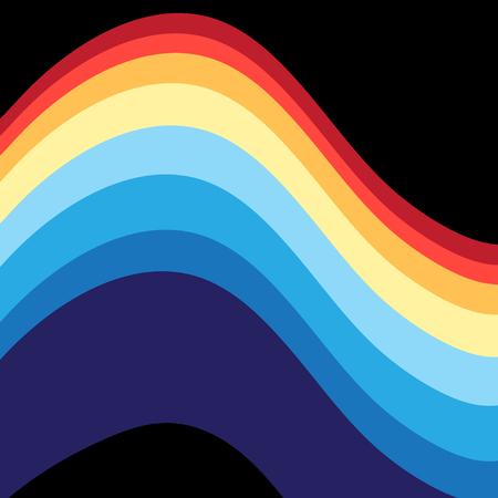 Samenvatting gekleurde achtergrond met golvende elementen.
