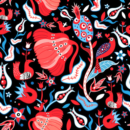Seamless floral bright pattern Illustration