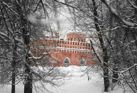 fragment of the palace the park of Moscow