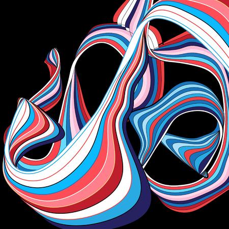 Samenvatting gekleurde achtergrond met golvende elementen