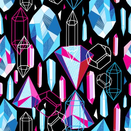 화려한 크리스탈과 아름 다운 완벽 한 패턴 스톡 콘텐츠 - 96780635