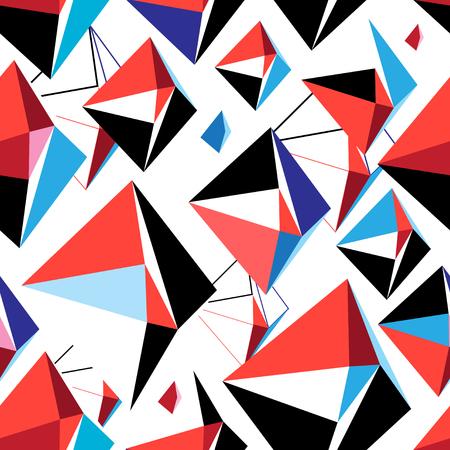 ベクトル抽象多色幾何学模様