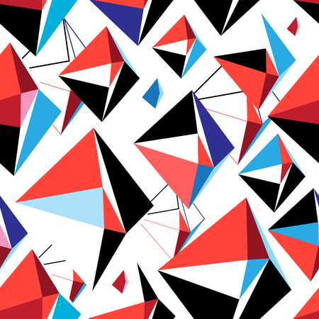 Vector abstract multicolored geometric pattern