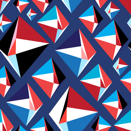 Transparente motif géométrique lumineux de triangles sur fond sombre Banque d'images - 96879546